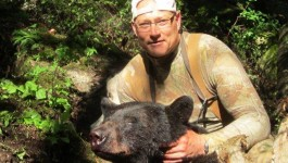 Big Black Bear in Idaho with Miles High Outfitters
