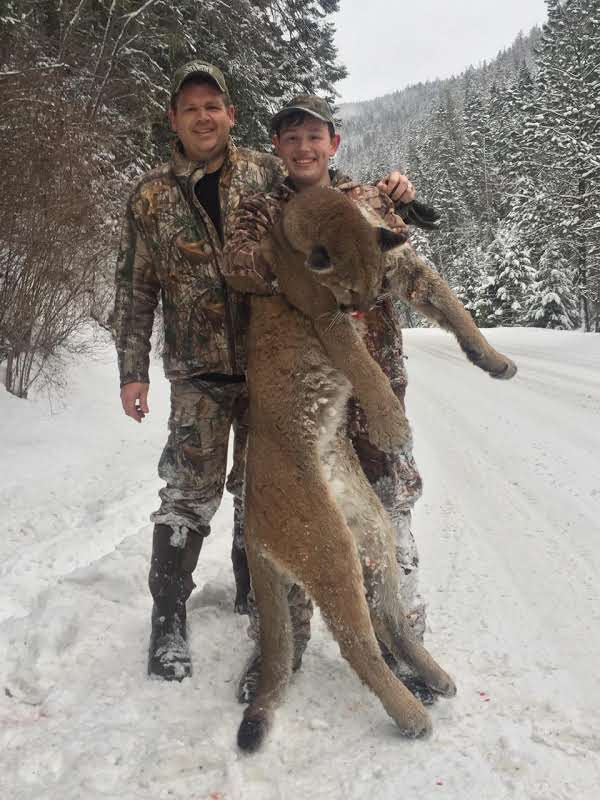 Our clients enjoy almost a 100% success rate with mountain lion hunts.